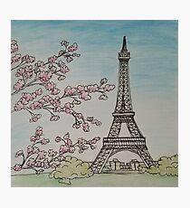 Paris in Springtime - Eiffel Tower by Laura Jaen Photographic Print