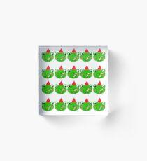 Cute little  frogs on green  Acrylic Block