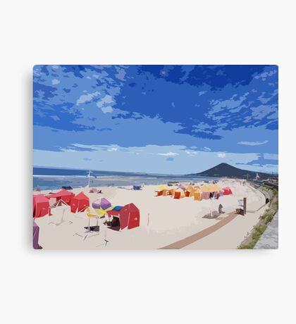 Colorful beach Canvas Print
