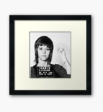 Jane Fonda Mug Shot Vertical Framed Print