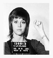 Jane Fonda Mug Shot Vertical Photographic Print