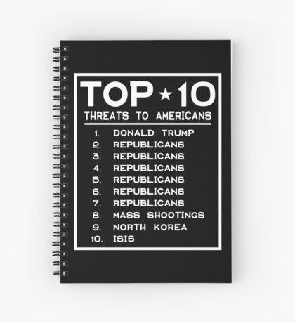 Top Ten Threats to Americans Spiral Notebook