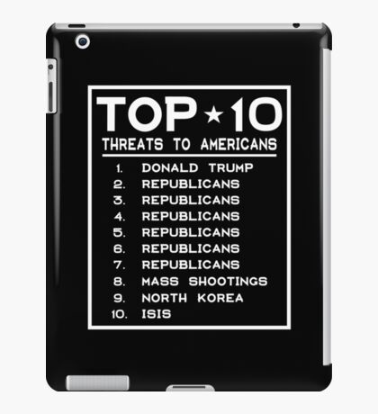 Top Ten Threats to Americans iPad Case/Skin