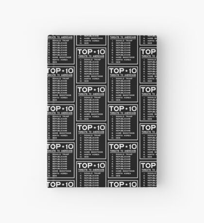 Top Ten Threats to Americans Hardcover Journal