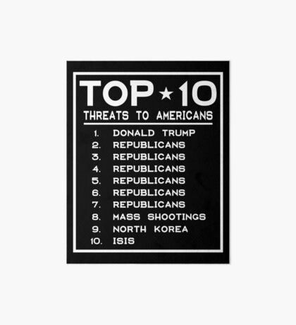 Top Ten Threats to Americans Art Board