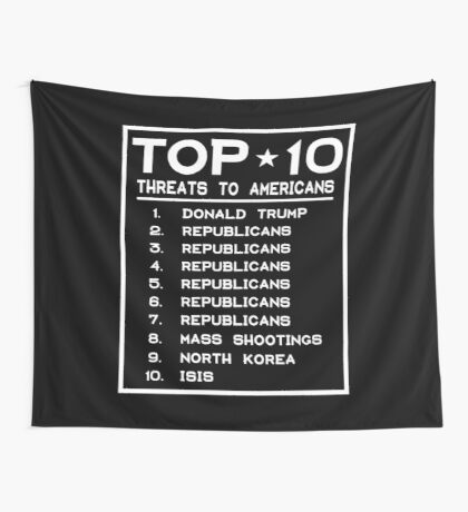 Top Ten Threats to Americans Wall Tapestry
