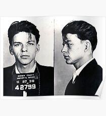 Frank Sinatra Mug Shot Painting Poster