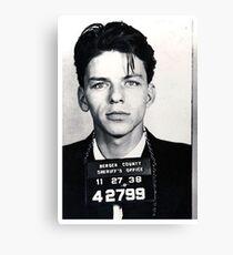 Frank Sinatra Mug Shot Vertical Canvas Print