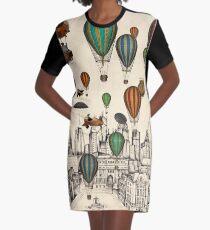 Vintage Old City Graphic T-Shirt Dress