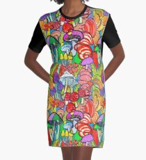 Overnight a Forest Appeared Graphic T-Shirt Dress