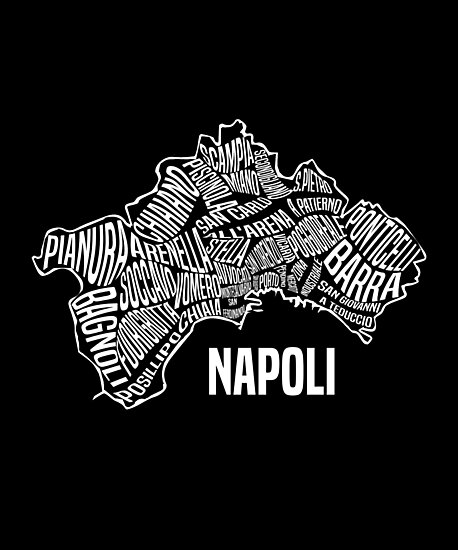 Napoli Map of Naples, Italy - Italian City Gear\