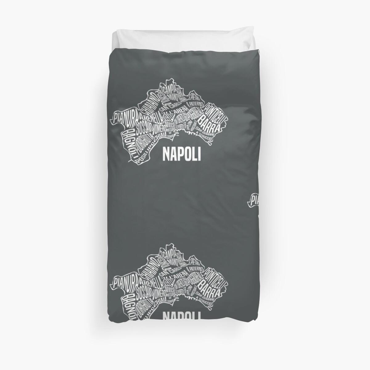 Napoli Map of Naples, Italy - Italian City Gear\