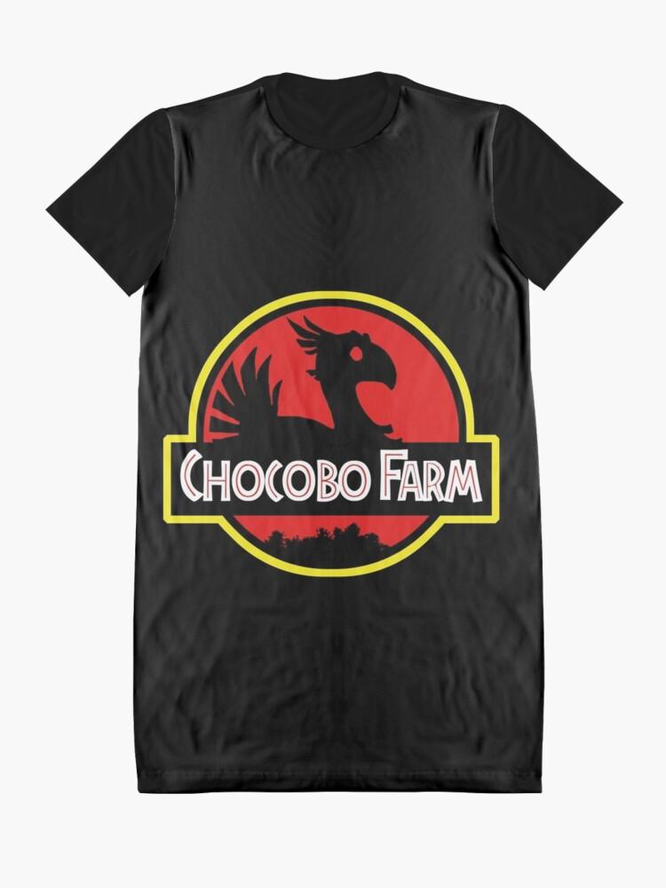 Alternative Ansicht von Chocobo Bauernhof T-Shirt Kleid