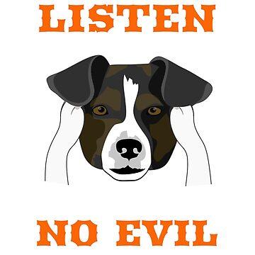 Listen no evil- funny dog by georgewaiyaki
