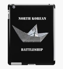North Korea Funny Paper Battle Ship iPad Case/Skin