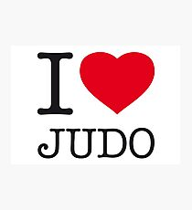 I ♥ JUDO Photographic Print