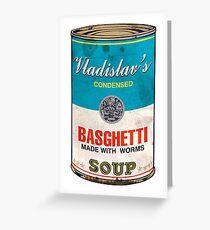 Tarjeta de felicitación Basghetti de Vladislav, lo que hacemos en las sombras