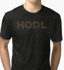 HODL Bitcoin Cryptocurrency Text Design Tri-blend T-Shirt