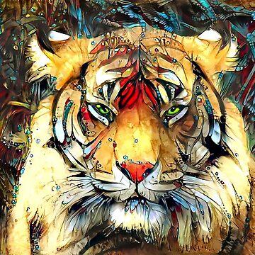 Fantazi (Tiger is Not Amused II) by Kacia by zemracreative