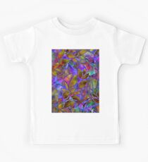 Floral Abstract Stained Glass G129 Kids Tee