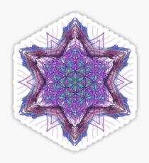 Star Tetrahedron Flower Of Life Mandala Sticker