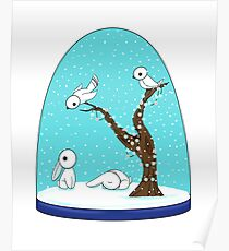 Winter Globe Poster