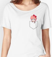 Sayori (pocket) - Doki Doki Literature Club Women's Relaxed Fit T-Shirt