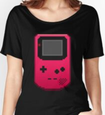 Red Gameboy Color -- Pixel Art Women's Relaxed Fit T-Shirt