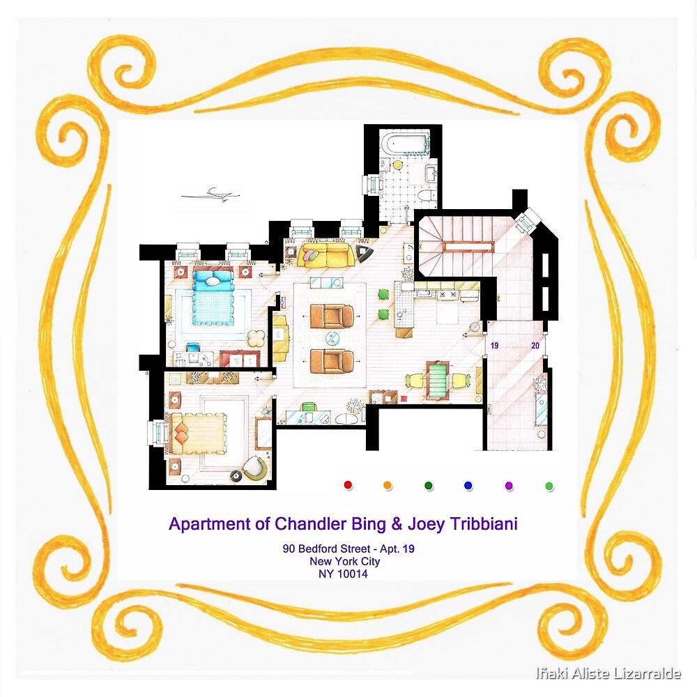 """Apartment of Chandler & Joey from """"FRIENDS"""" by Iñaki Aliste Lizarralde"""