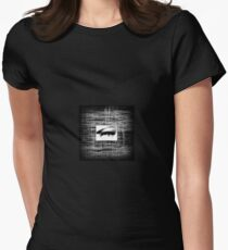 Lost Soul black and white Womens Fitted T-Shirt