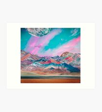 Pastel Mountains Art Print