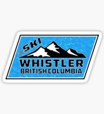 Ski Whistler British Columbia Canada Skiing Sticker