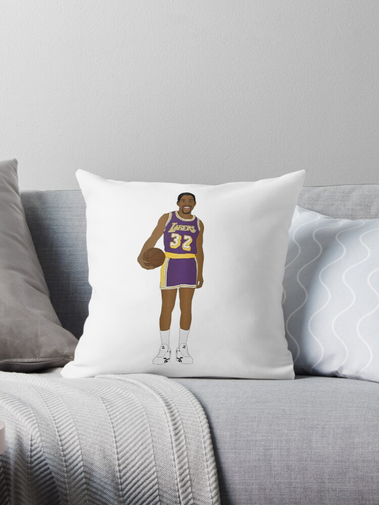 Admirable Magic Johnson Prime Showtime Lakers Behind The Back Color Texture Design Throw Pillow By Cleodog Theyellowbook Wood Chair Design Ideas Theyellowbookinfo