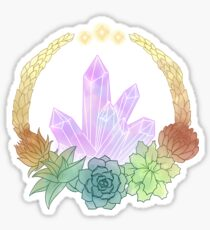 Crystal and Succulent Sticker