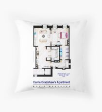Carrie Bradshaw apt. (Sex and the City movies) Throw Pillow