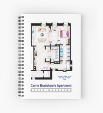 Carrie Bradshaw apt. (Sex and the City movies) Spiral Notebook