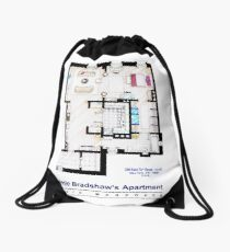 Carrie Bradshaw apt. (Sex and the City movies) Drawstring Bag