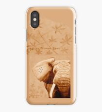 OM - Elefant -  brown iPhone Case/Skin