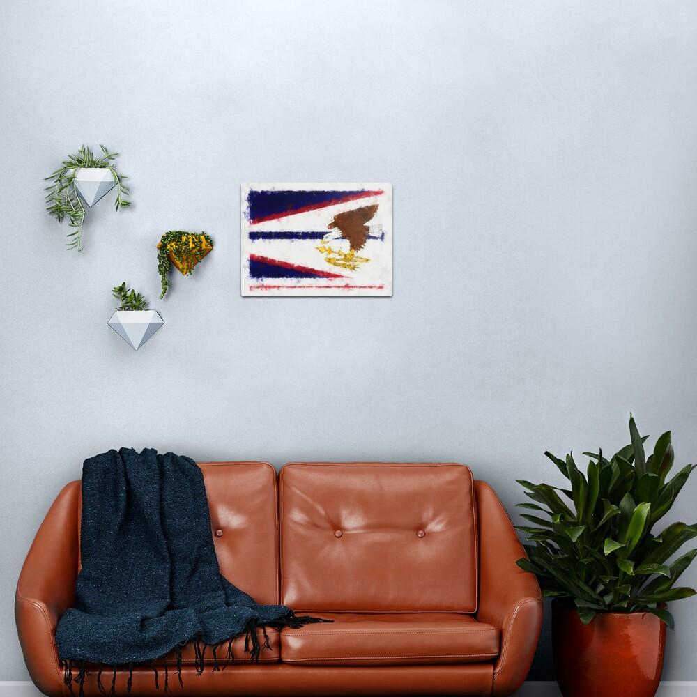American Samoa Flag Reworked No. 66, Series 5 Metal Print