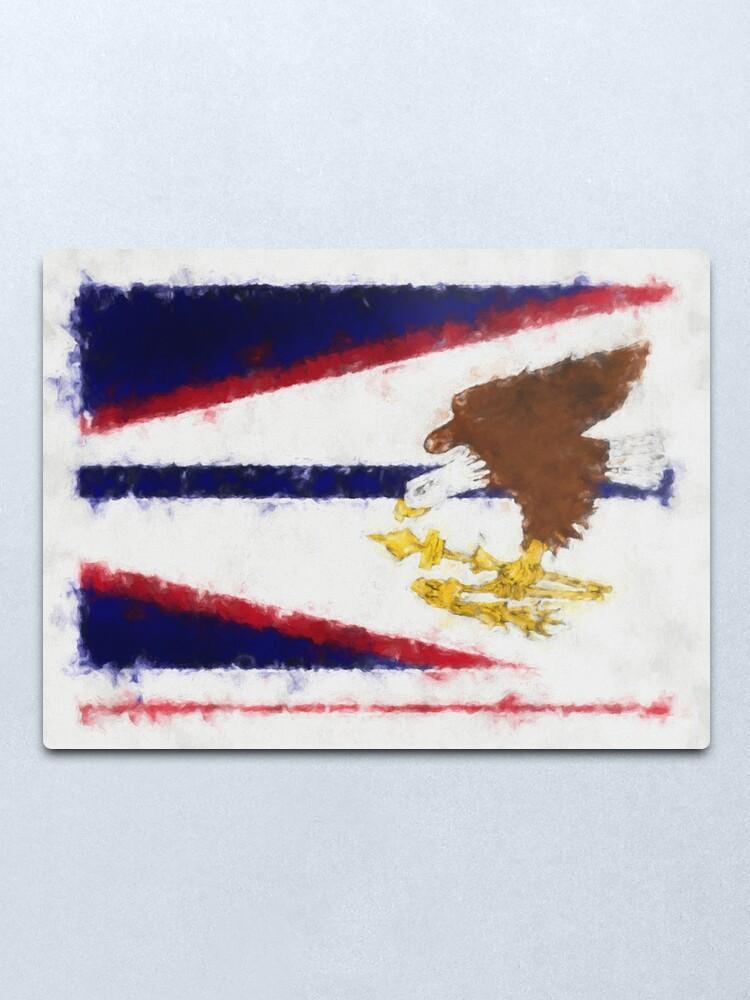 Alternate view of American Samoa Flag Reworked No. 66, Series 5 Metal Print