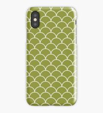 Scales pattern - green iPhone Case