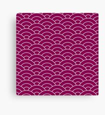 waves, white and medium purple Canvas Print