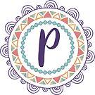Monogramm-Buchstabe P | Personalisiert | Böhmisches Design von PraiseQuotes