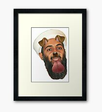 Ben Laden Snapchat Dog Framed Print