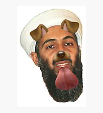 Bin Laden Snapchat Dog Photographic Print
