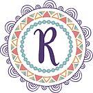 Monogramm-Buchstabe R | Personalisiert | Böhmisches Design von PraiseQuotes