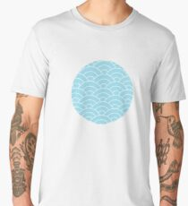 waves, white and pastel blue Men's Premium T-Shirt