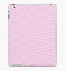 waves, white and pastel pink iPad Case/Skin