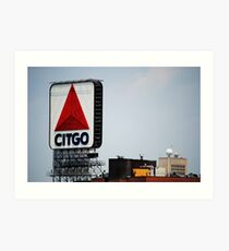 Famous Citgo Landmark Sign, Boston MA Art Print