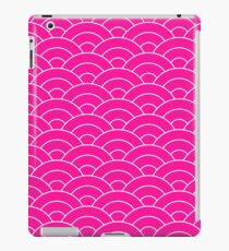 waves, white and saturated pink iPad Case/Skin